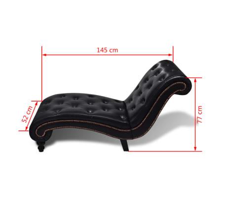 vidaXL Chaise longue couro artificial castanho[6/6]
