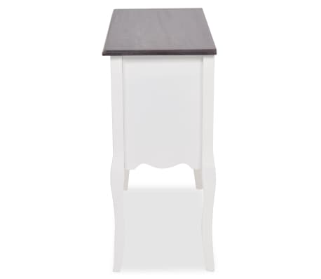 vidaXL Console Cabinet 6 Drawers Brown and White Wood[5/7]
