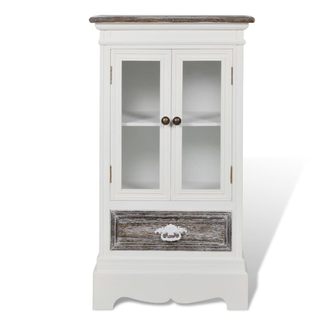 vidaXL Ντουλάπι με 2 Πόρτες και 1 Συρτάρι Λευκό Ξύλινο