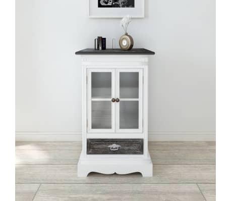 Cabinet 2 Doors 1 Drawer White Wood[1/8]