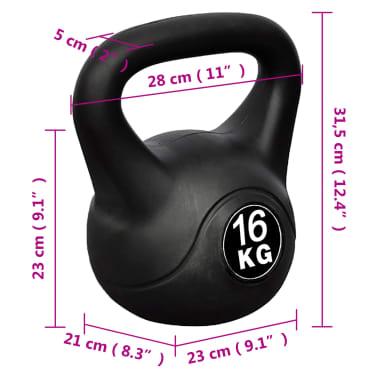 Greutate tip bilă cu mâner Kettlebell 16 kg[4/4]