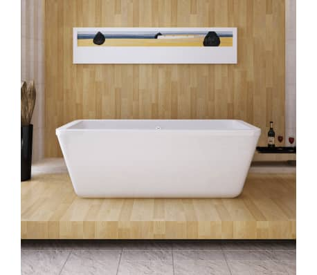 acheter baignoire rectangulaire en acrylique blanc pas cher. Black Bedroom Furniture Sets. Home Design Ideas