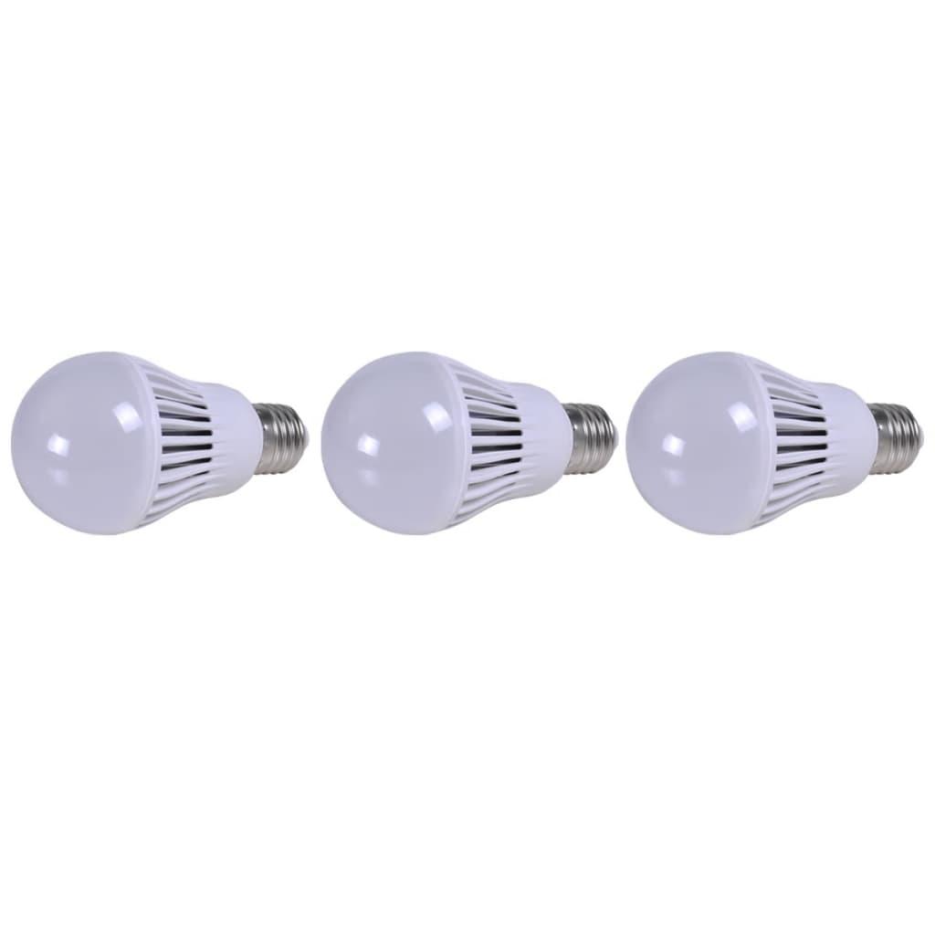 LED žárovky 3 ks - 7 W / E27 - teplá bílá