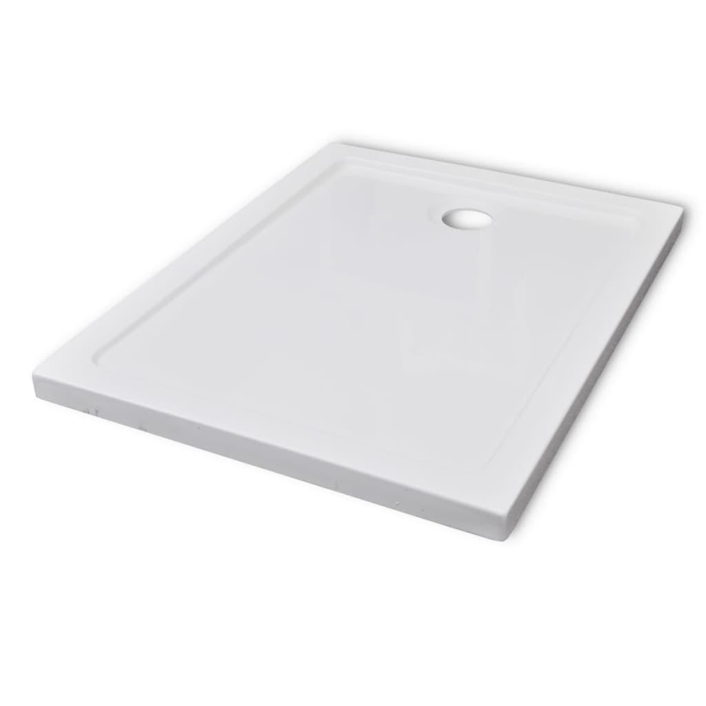 vidaXL Βάση Ντουζιέρας Ορθογώνια 70 x 90 εκ. από ABS