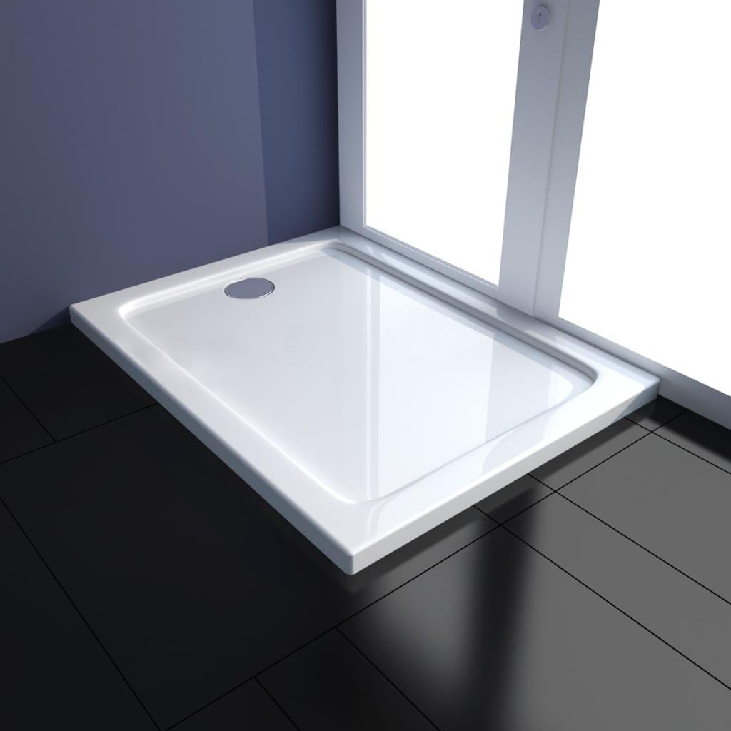 vidaXL Obdélníková sprchová vanička ABS 70 x 90 cm