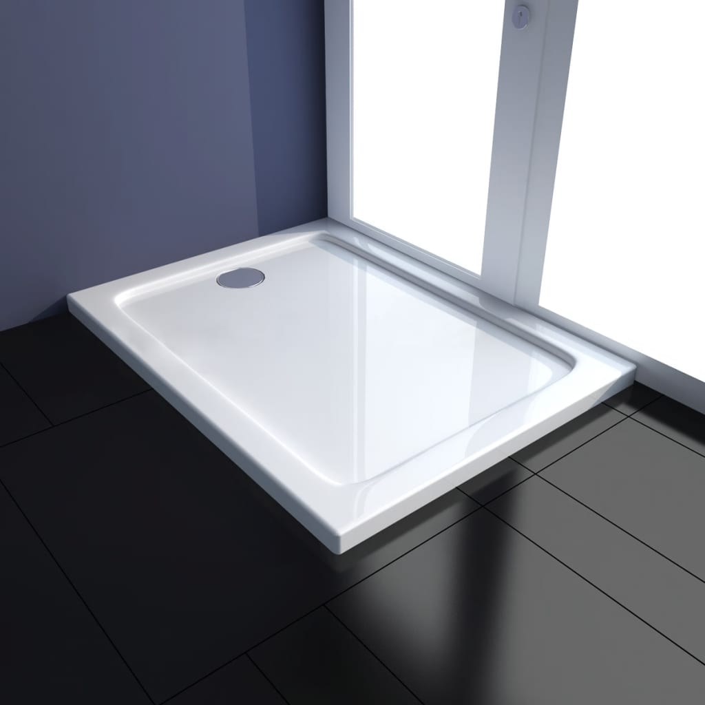 vidaXL Obdélníková sprchová vanička z ABS černá 70x90 cm