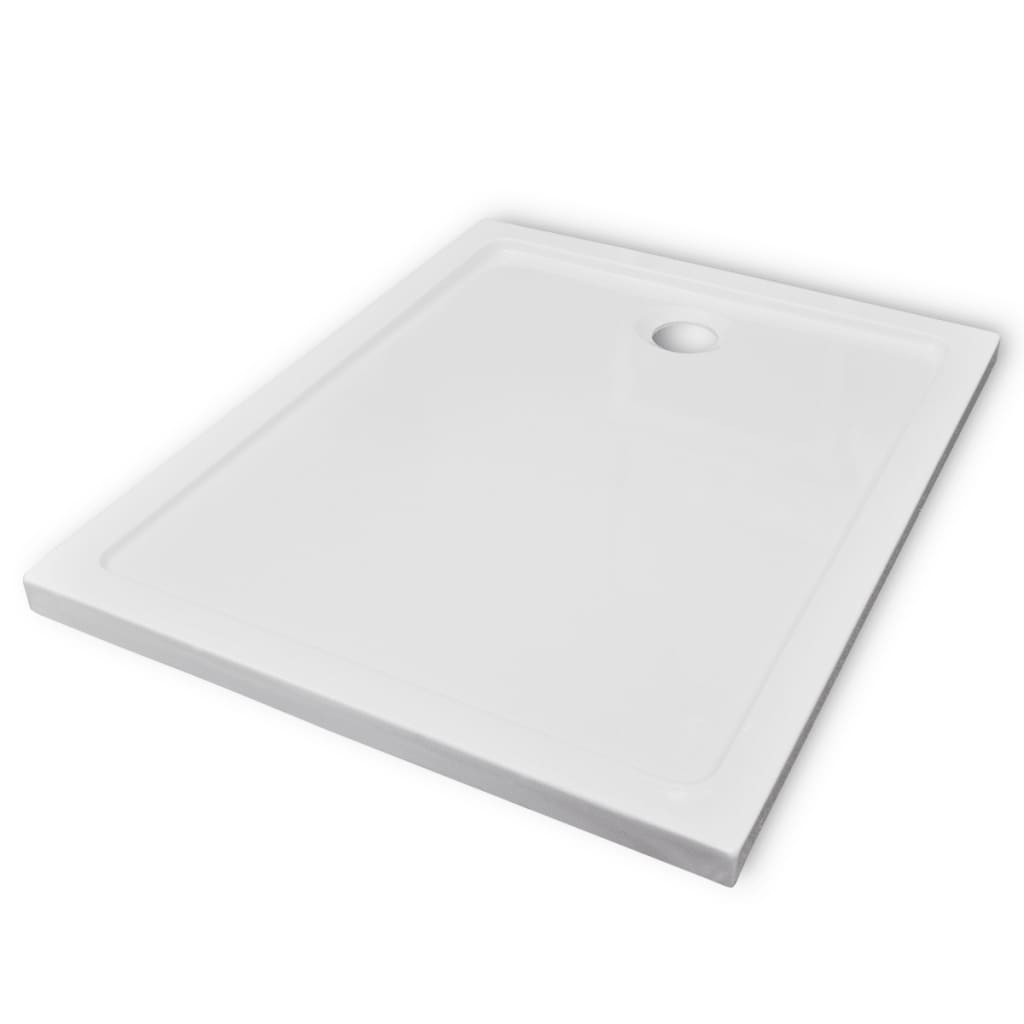 vidaXL Βάση Ντουζιέρας Ορθογώνια 80 x 100 εκ. από ABS