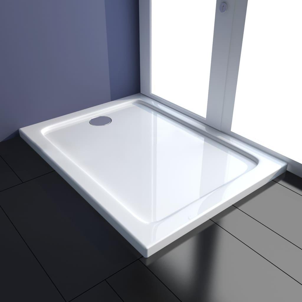 vidaXL Obdélníková sprchová vanička ABS 80 x 100 cm