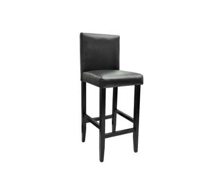 Set de 1 table de bar et 4 tabourets noir[5/8]