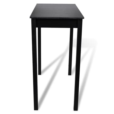 Set de 1 table de bar et 4 tabourets noir[3/8]