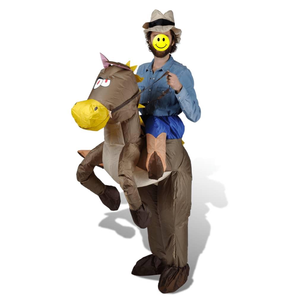 Nafukovací kostým kovboj a kůň