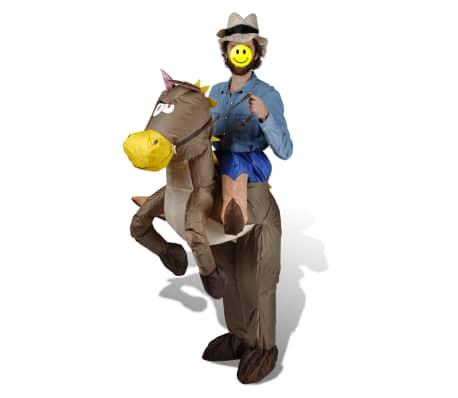 Ilmatäytteinen Cowboy ja Hevonen Naamiaisasu[2/2]