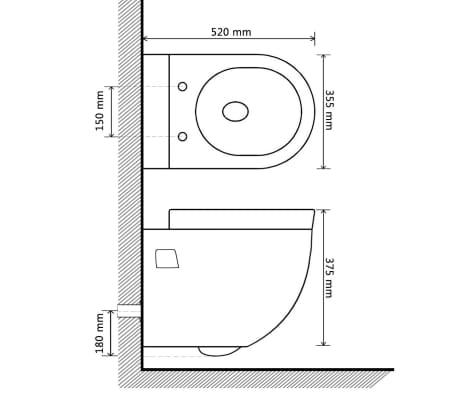 wand h nge wc toilette set edle design wei inkl sp lkasten g nstig kaufen. Black Bedroom Furniture Sets. Home Design Ideas