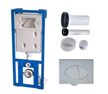 wand h nge wc toilette set edle design wei inkl. Black Bedroom Furniture Sets. Home Design Ideas