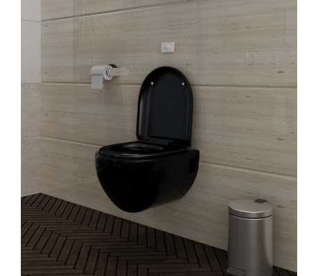 wand h nge wc toilette edle design schwarz inkl sp lkasten zum schn ppchenpreis. Black Bedroom Furniture Sets. Home Design Ideas
