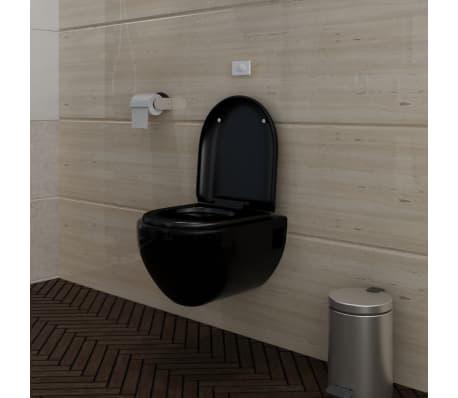 wand h nge wc toilette edle design schwarz inkl sp lkasten g nstig kaufen. Black Bedroom Furniture Sets. Home Design Ideas