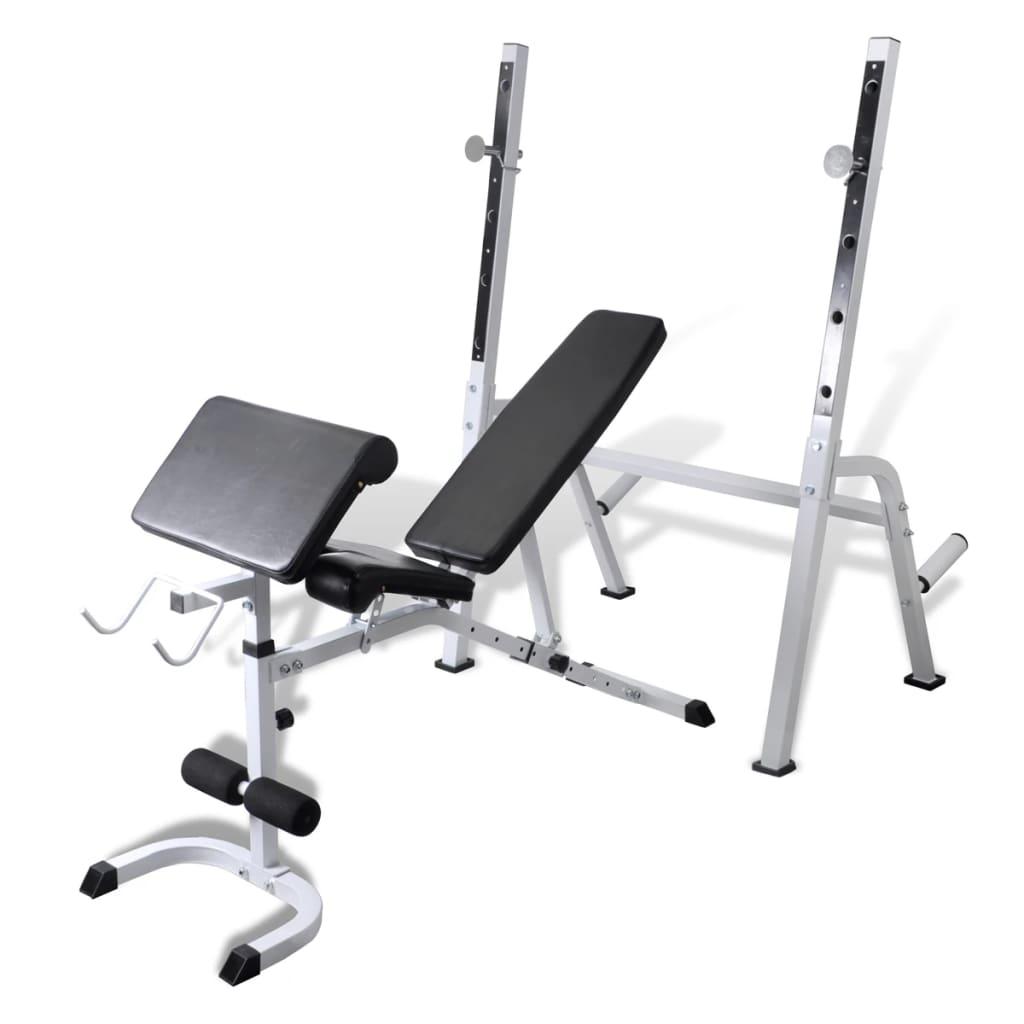 Bancă fitness multifuncțională pentru exerciții forță poza vidaxl.ro
