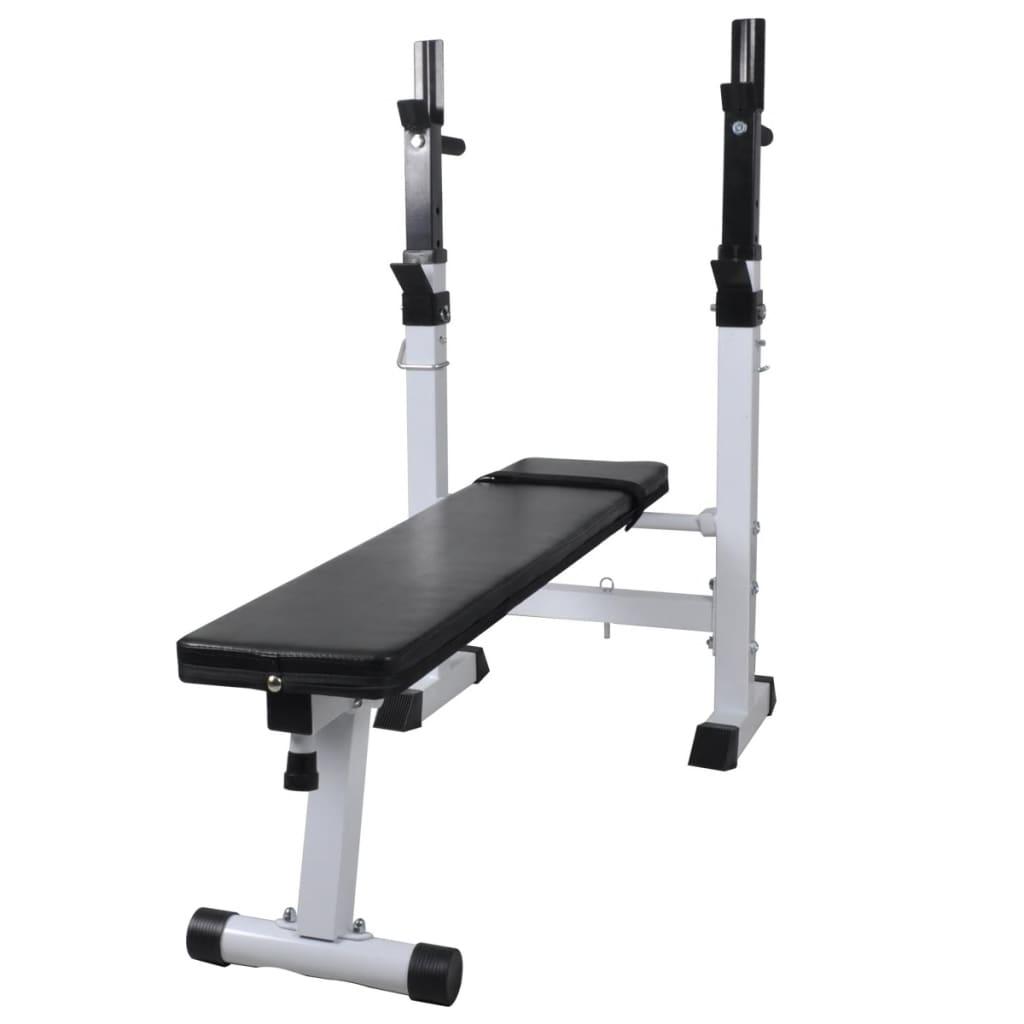 vidaXL Bancă de exerciții fitness dreaptă, bancă de greutăți poza vidaxl.ro