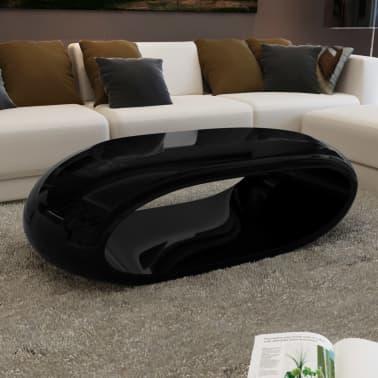 vidaXL Coffee Table Fiber Glass High Gloss Black[1/4]
