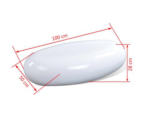 vidaXL Kavos staliukas, stiklo pluoštas, l.blizgus, balt.[4/4]