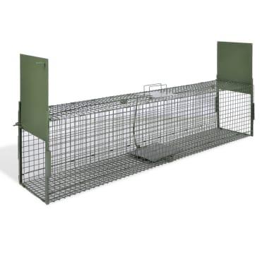 vidaXL Cușcă capcană cu 2 uși 150 x 30 x 30 cm[1/5]