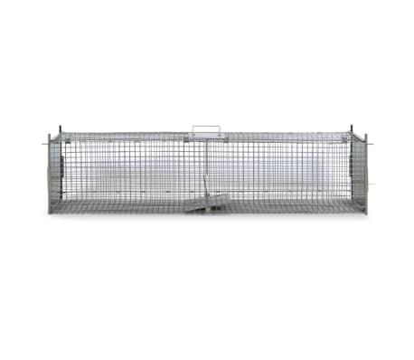 vidaXL Spąstai gyvūnams su 2 durimis, 150 x 30 x 30 cm[2/5]