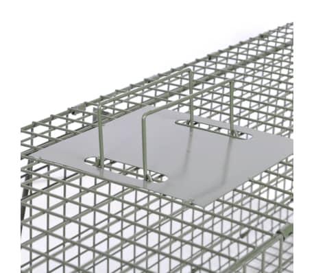 vidaXL Spąstai gyvūnams su 2 durimis, 150 x 30 x 30 cm[4/5]