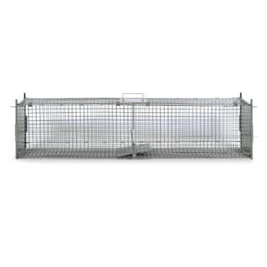 vidaXL Cușcă capcană cu 2 uși 150 x 30 x 30 cm[2/5]