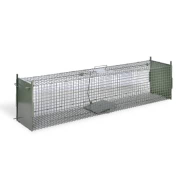 vidaXL Spąstai gyvūnams su 2 durimis, 150 x 30 x 30 cm[3/5]