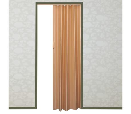 Porta pieghevole a strato singolo 203x83cm marrone chiaro for Porta pieghevole