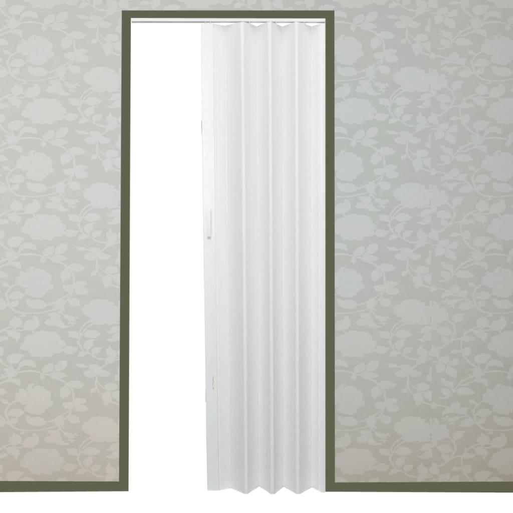 Shrnovací dveře jednovrstvé 203 x 83 cm bílé