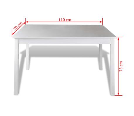 esstisch set holztisch mit 4 holzst hle wei zum schn ppchenpreis. Black Bedroom Furniture Sets. Home Design Ideas