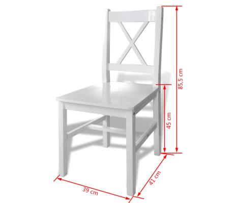 esstisch set holztisch mit 4 holzst hle wei g nstig kaufen. Black Bedroom Furniture Sets. Home Design Ideas