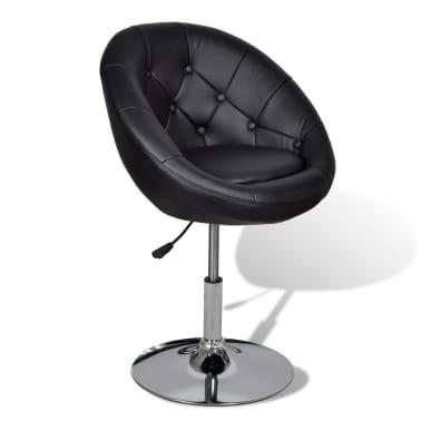 vidaXL Chaise de club Cuir synthétique Noir[2/5]