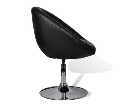 vidaXL Chaise de club Cuir synthétique Noir[5/5]