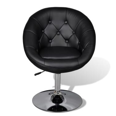 vidaXL Chaise de club Cuir synthétique Noir[3/5]