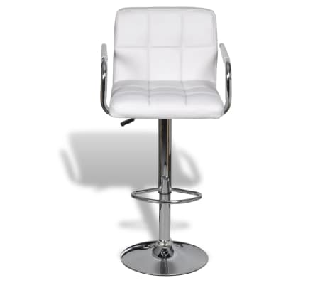 acheter vidaxl tabouret de bar avec accoudoir 2 pcs blanc pas cher. Black Bedroom Furniture Sets. Home Design Ideas