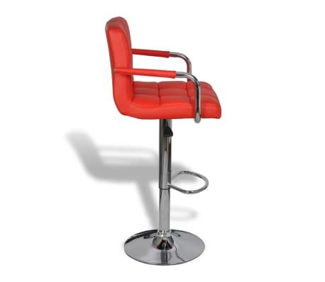 acheter vidaxl tabouret de bar avec accoudoir 2 pcs rouge pas cher. Black Bedroom Furniture Sets. Home Design Ideas