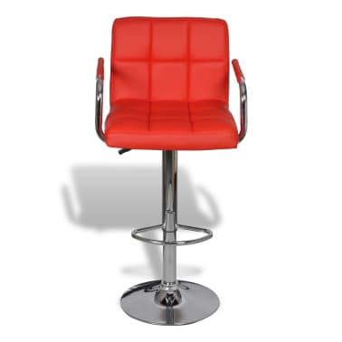 acheter vidaxl tabouret de bar avec accoudoir 2 pcs rouge. Black Bedroom Furniture Sets. Home Design Ideas