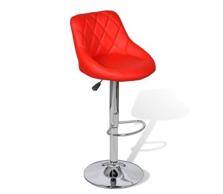 vidaXL Barová stolička, 2 ks, červená[3/8]
