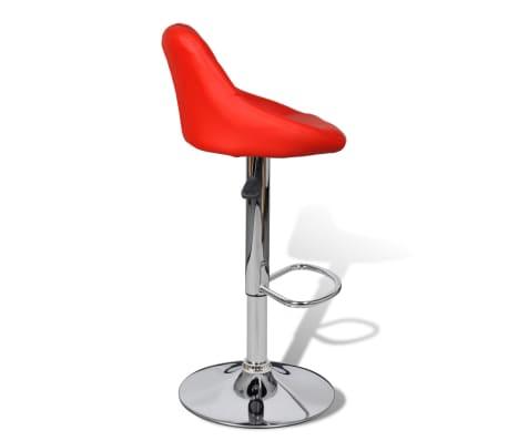 vidaXL Barová stolička, 2 ks, červená[5/8]