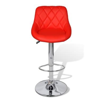 vidaXL Barová stolička, 2 ks, červená[4/8]