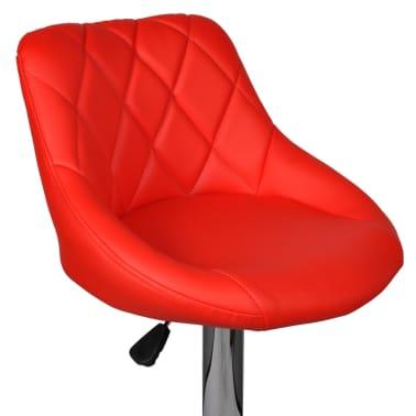 vidaXL Barová stolička, 2 ks, červená[6/8]