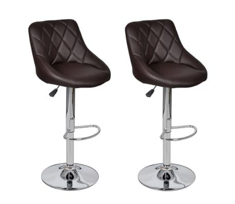 vidaXL Barski stolčki 2 kosa rjavo umetno usnje