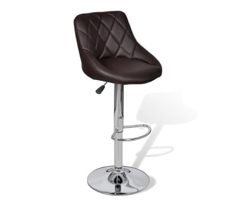 acheter vidaxl tabouret de bar 2 pcs marron pas cher. Black Bedroom Furniture Sets. Home Design Ideas