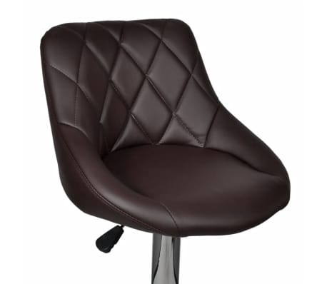 vidaXL Baro kėdės, 2 vnt., rudos[6/8]