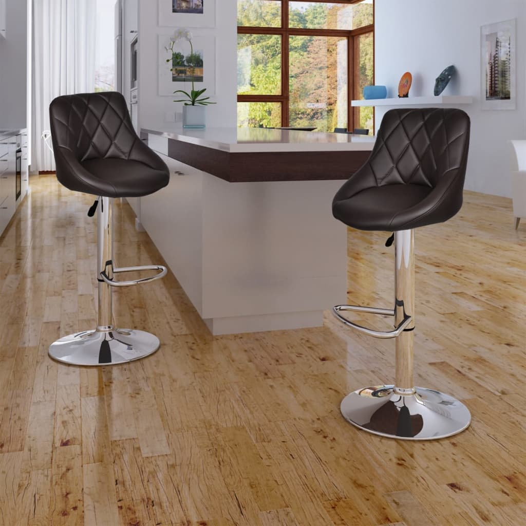 vidaXL 2 x Bar Stool Brown