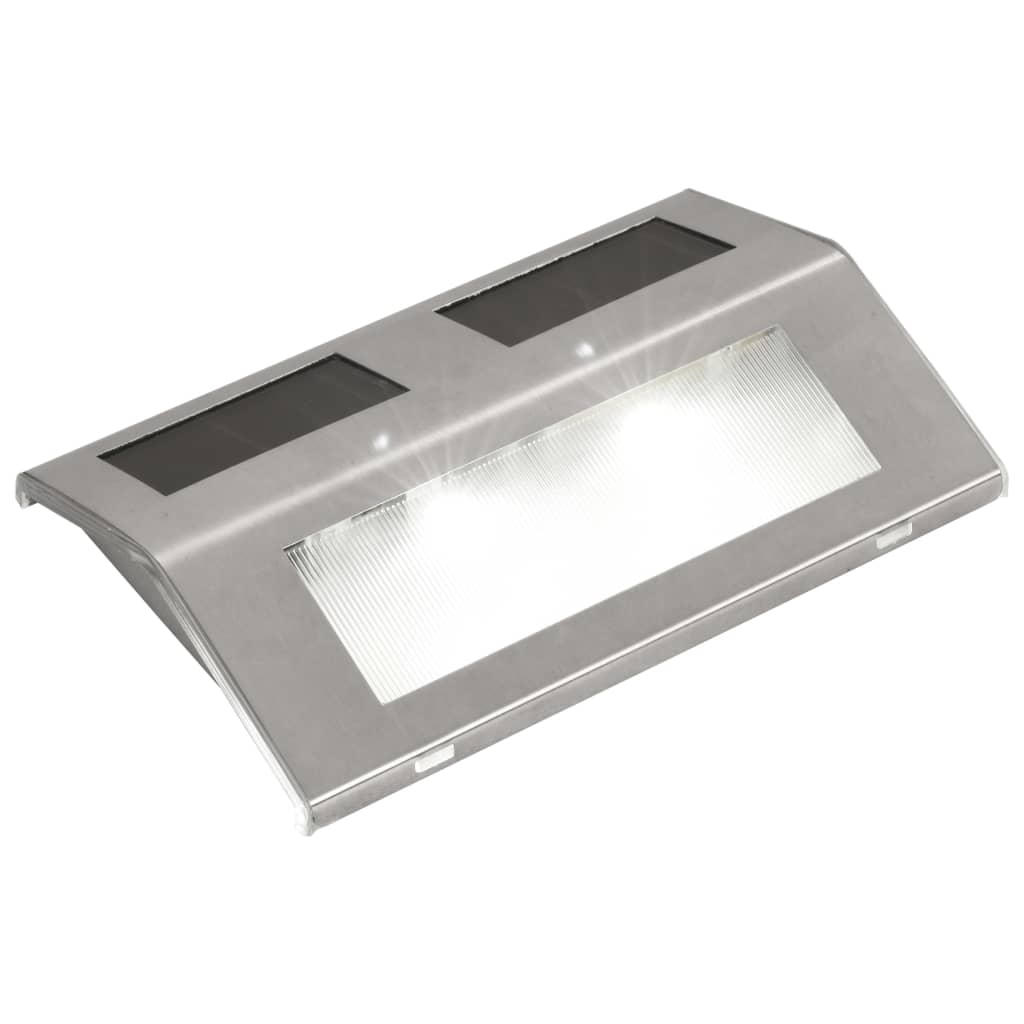 Vidaxl Lot De 4 Lampes Solaires Pour Escalier Eclairage Pour Escalier Couloir