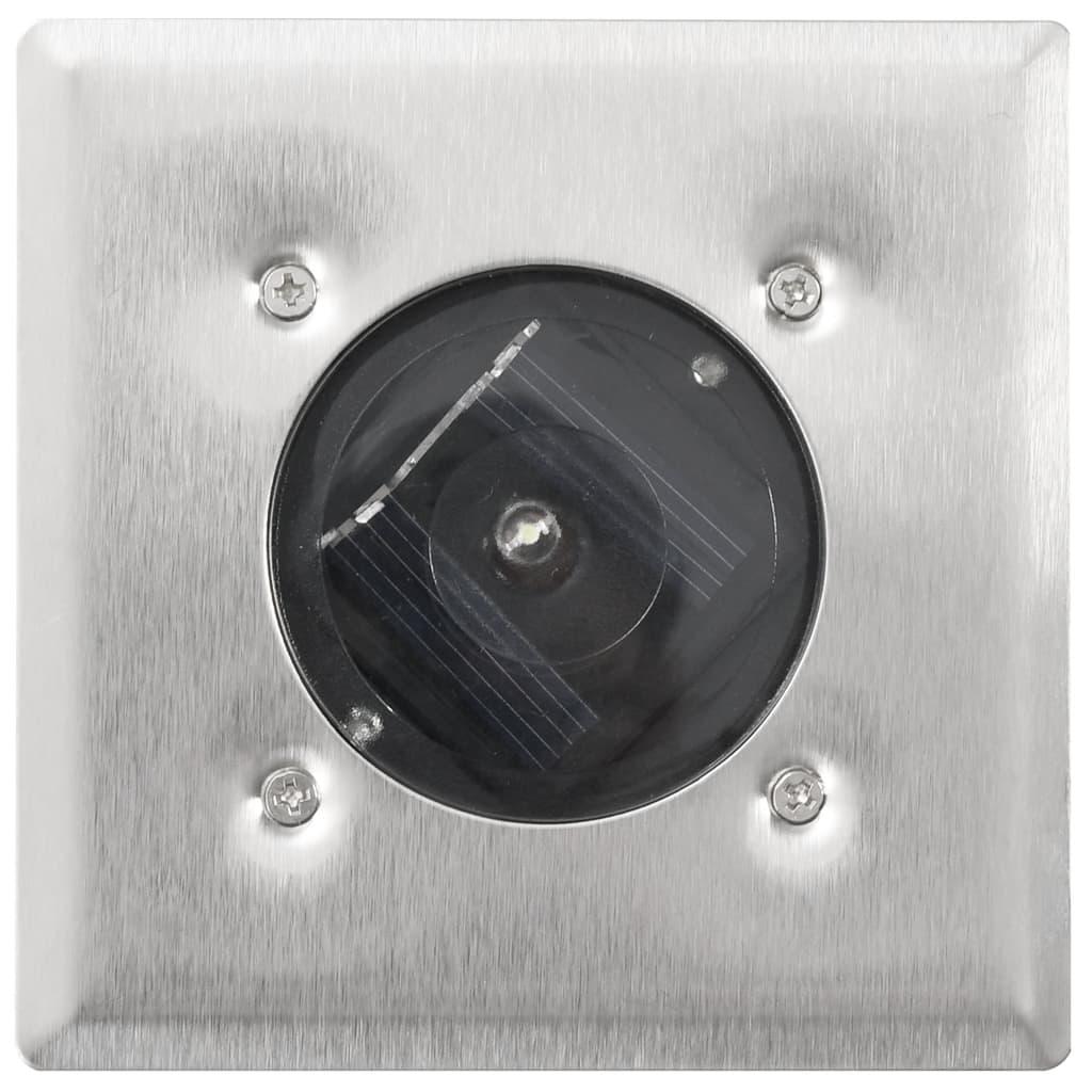 Solární zemní LED svítidla čtvercová - 6 ks