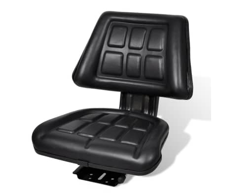vidaXL Tractor Seat with Backrest Black[1/6]
